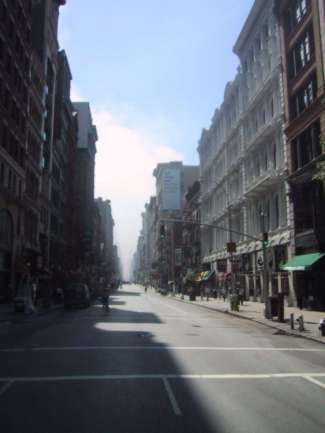 view down Broadway